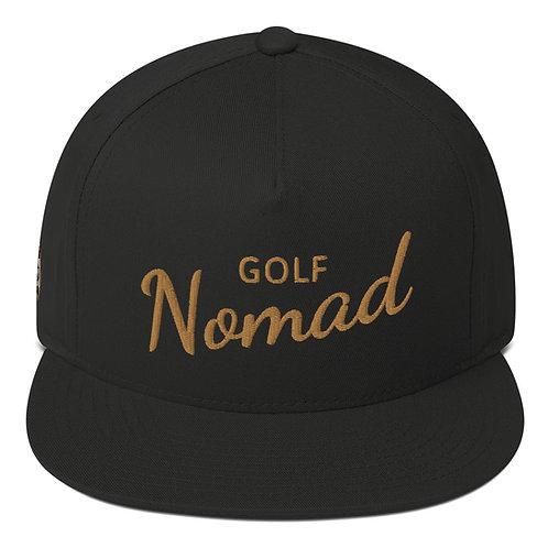 Fancy Nomad Gold Flat Bill Cap