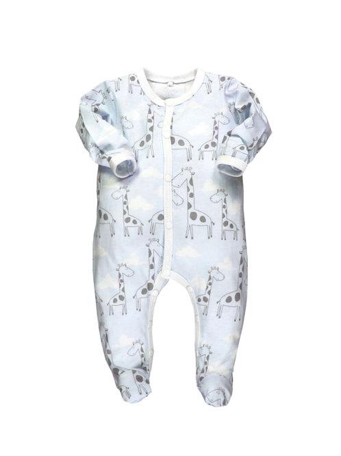 Pijama algodón jirafas azul BOBOLI