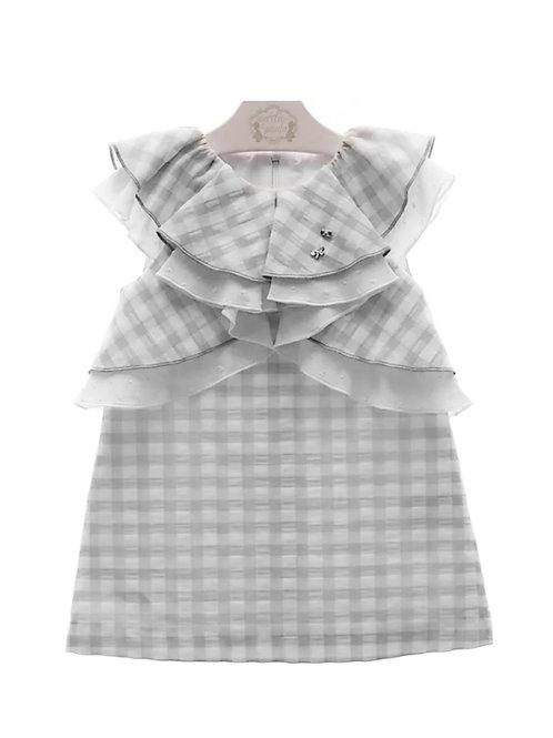 Vestido niña Vichy gris