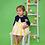 Thumbnail: Vestido niña rayas amarillo FOQUE