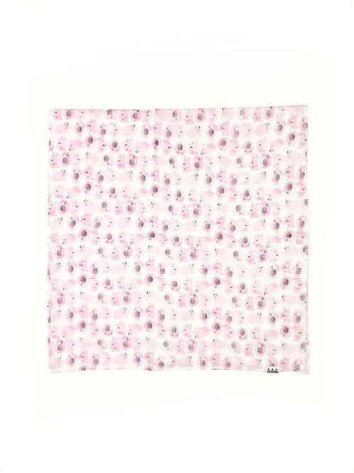 Muselina rosa de gatitos
