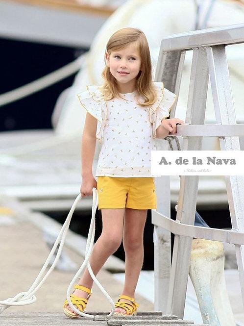 Conjunto Camisa y Pantalón abejas Colección Miel