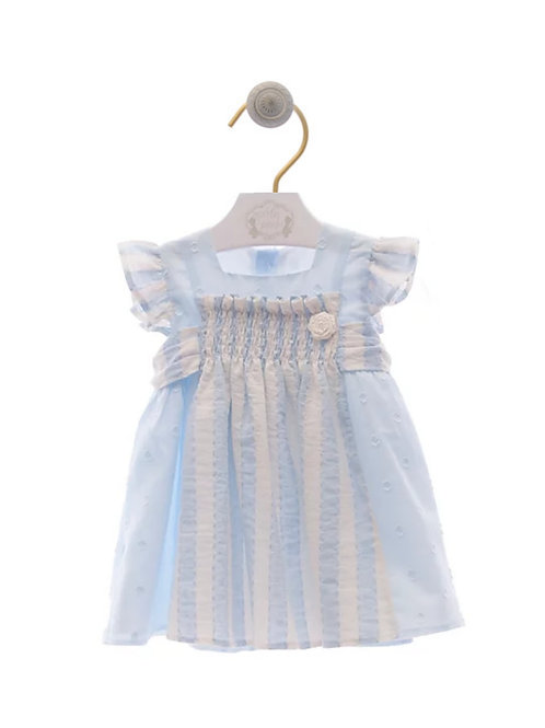 Vestido plumeti azul canastilla