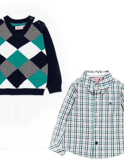Conjunto Camisa+Jersey verde BOBOLI