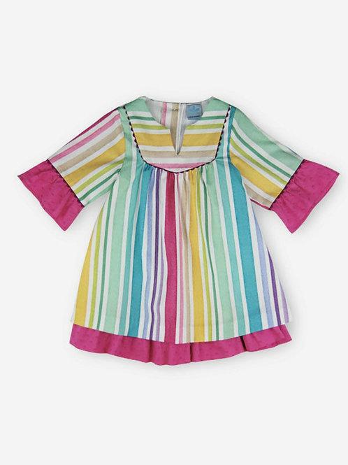 Vestido túnica rayas multicolor SARDON