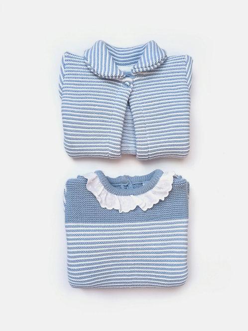Conjunto Abrigo + Vestido  bebé familia Nina SARDON