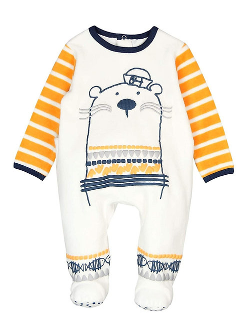 Pijama terciopelo osito marino y amarillo BOBOLI