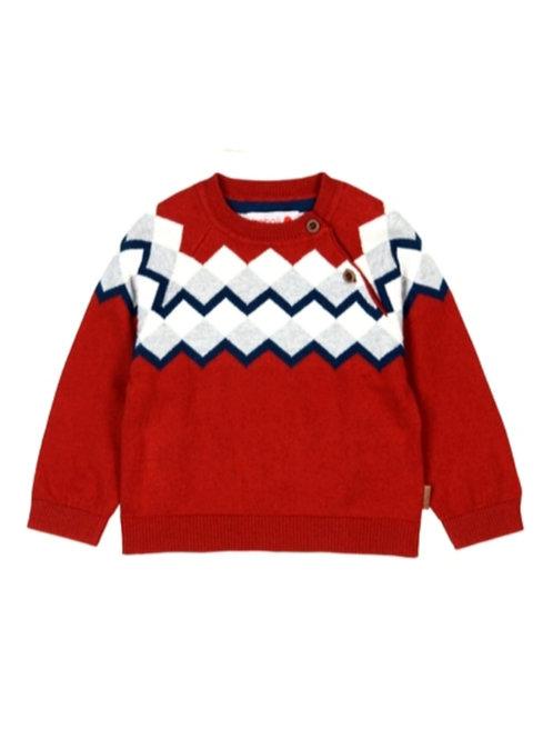 Jersey tricotosa niño greca rojo con botones BOBOLI
