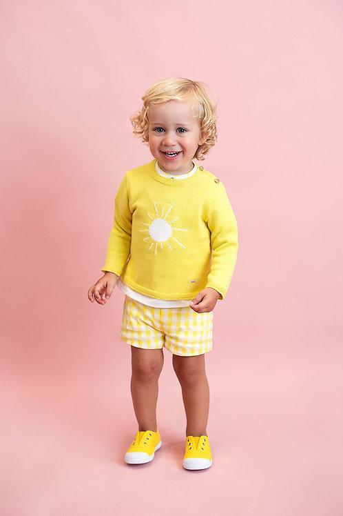 Jersey algodón dibujo sol Sun Flower FOQUE