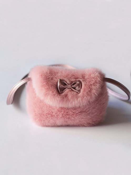 Mini bolso pelo rosa