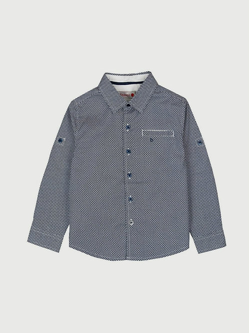 Camisa algodón niño geométrica marino BOBOLI
