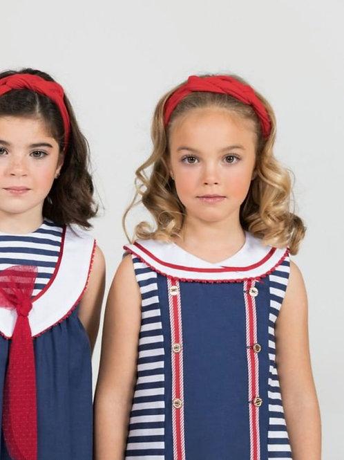 Vestido niña navy botones Monet MARTA Y PAULA