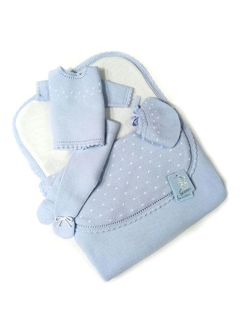 Saco bebé azul celeste familia Bodoques GRANLEI