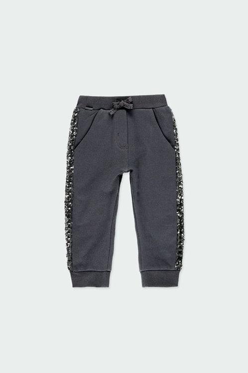 Pantalón chándal gris con lentejuelas BOBOLI