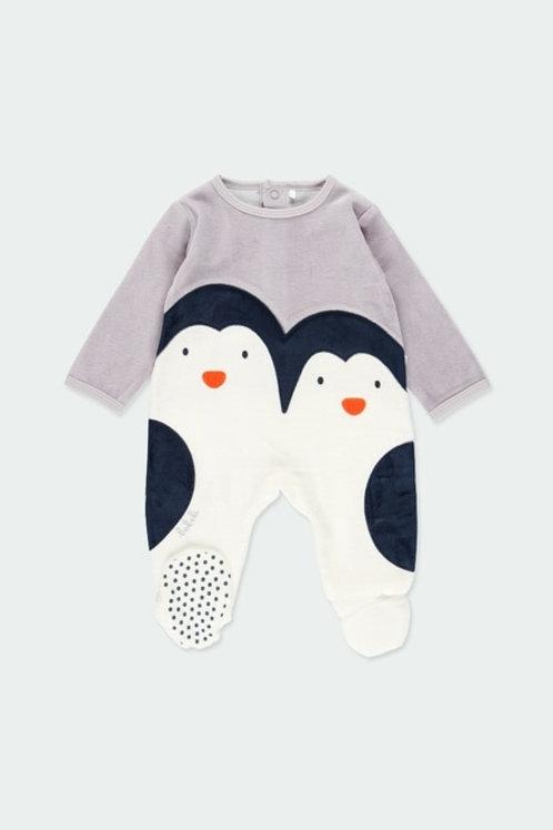 Pijana terciopelo con pie antideslizante pingüinos BOBOLI