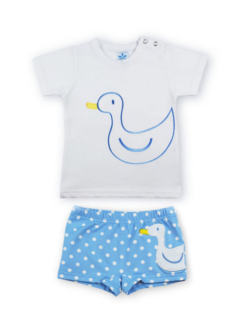 Camiseta + Bañador lycra familia Pato SARDON