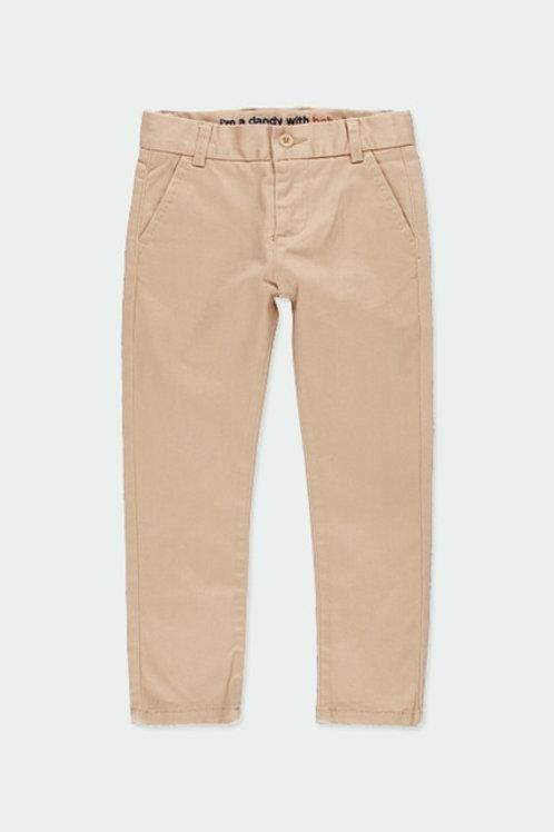 Pantalón de niño satén elástico camel BOBOLI