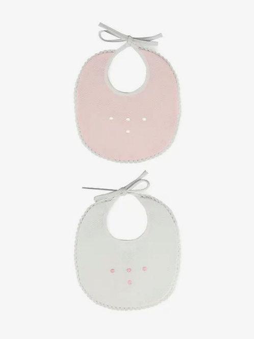 Conjunto de dos baberos rosas SARDON