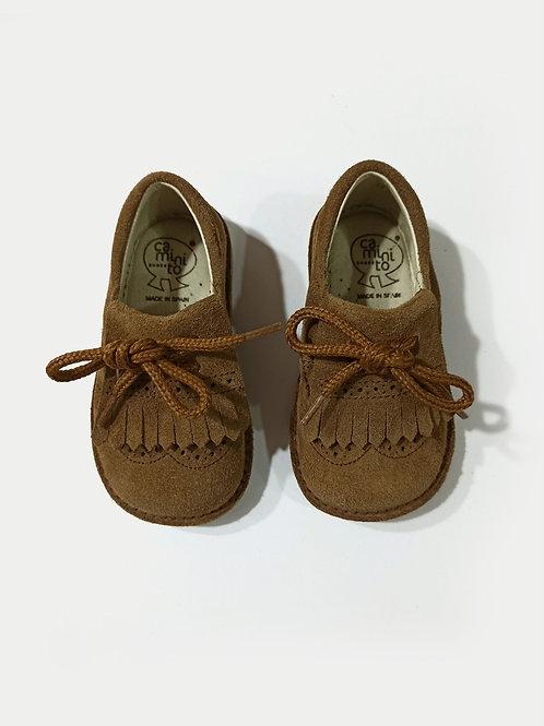 Bota serraje con cordones marrón CAMINITO