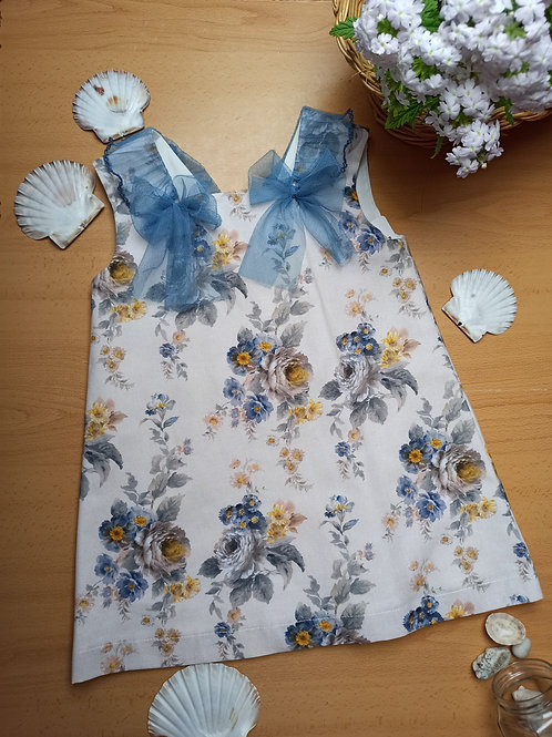 Vestido Colección Flores y Volantes