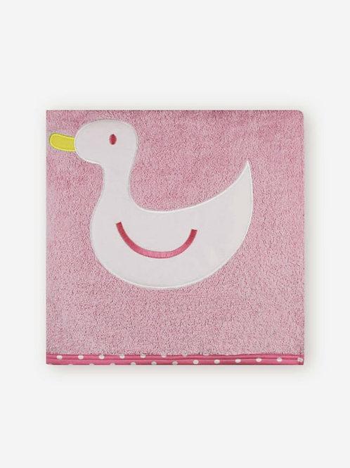Toalla rosa algodón familia Pato SARDON