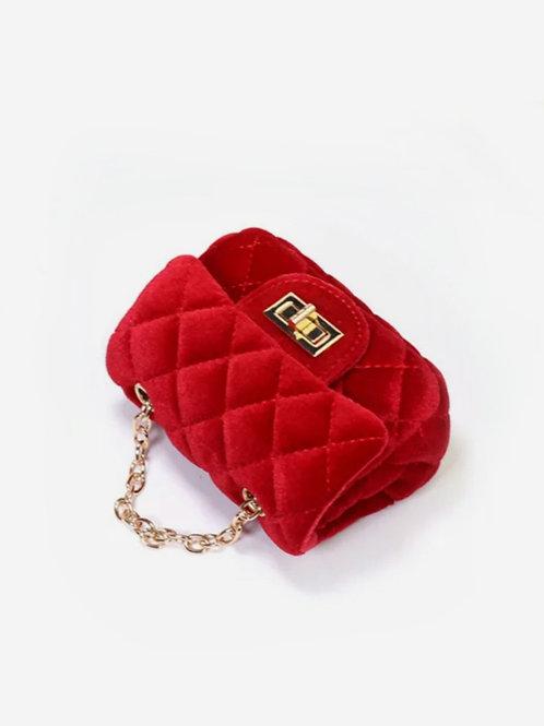 Mini bolsito de terciopelo rojo NAVITA