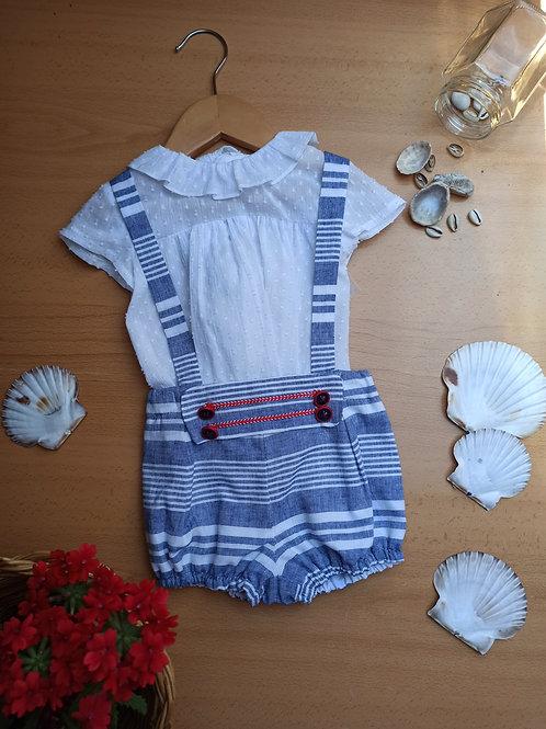 Conjunto dos piezas bebé 1 Colección Marinera