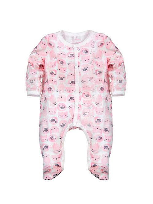Pijama algodón rosa de gatitos BOBOLI