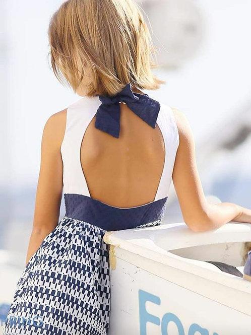 Vestido espalda al aire Navy FOQUE