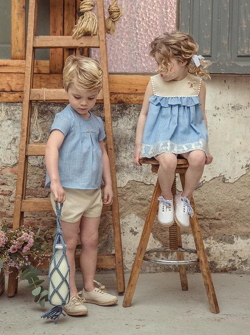 Camisa + Bermuda bebé Cromos MARTA Y PAULA