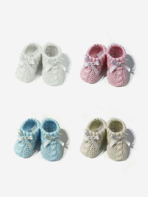Patucos de perle para bebé con lazo SARDON