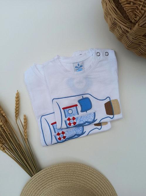 Camiseta bordada fam. Cretona SARDON
