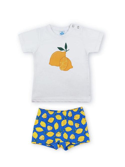 Camiseta y bañador Colección limonada