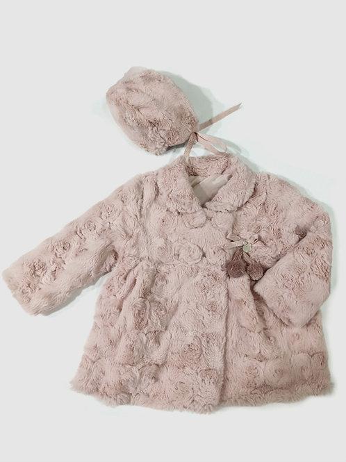 Abrigo con capota pelo rosa MARTA Y PAULA