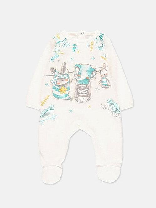 Pijama blanco con animalitos BOBOLI