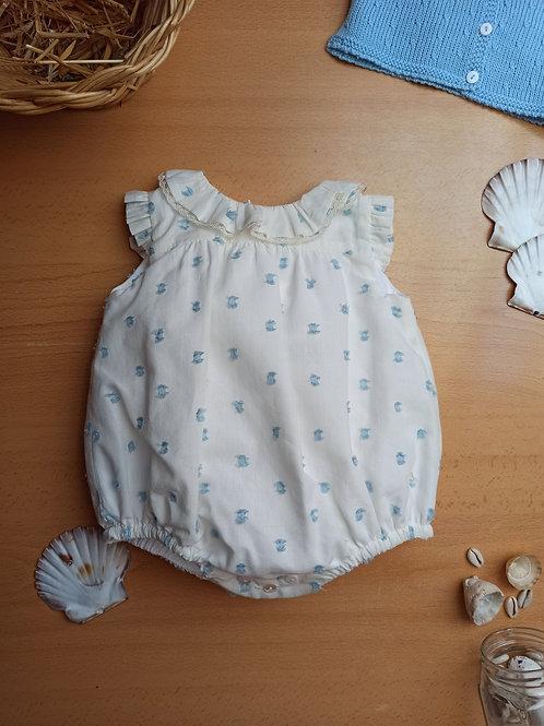 Ranita plumeti azul bebé
