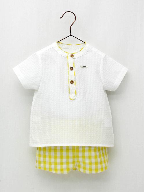 Camisa + Pantalón amarillo Sun Flower FOQUE