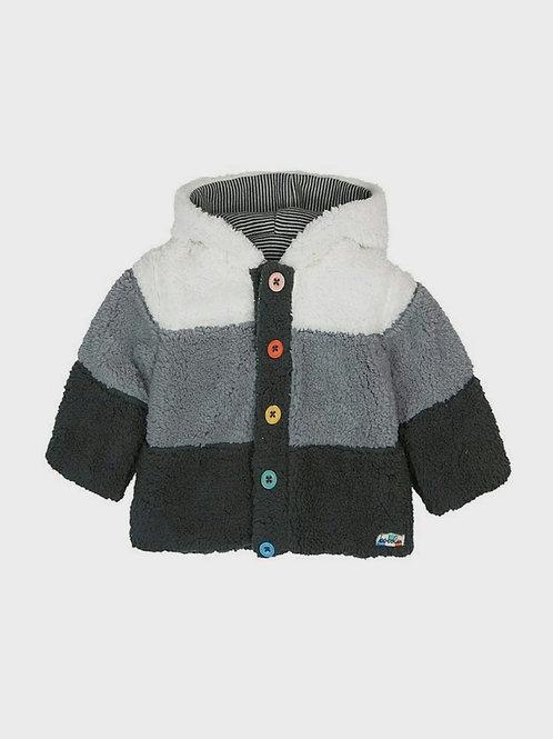 Chaqueta reversible de bebé tricolor BOBOLI