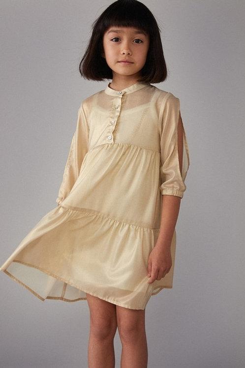 Vestido de fantasía dorado brillante BOBOLI