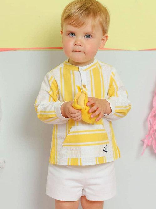 Conjunto niño rayas amarillo FOQUE
