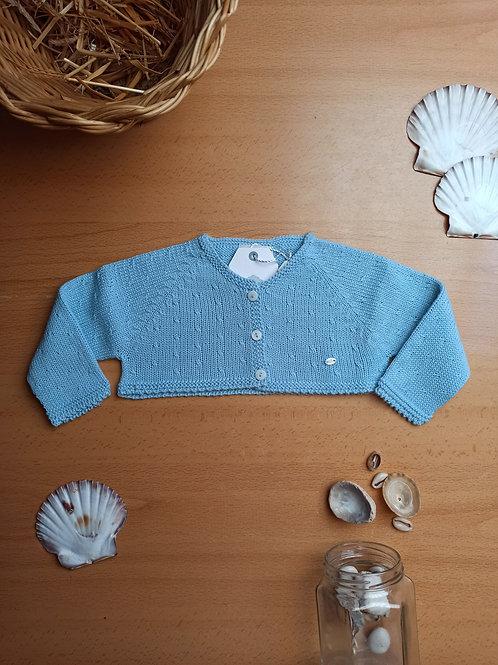 Chaqueta azul bebé punto perle