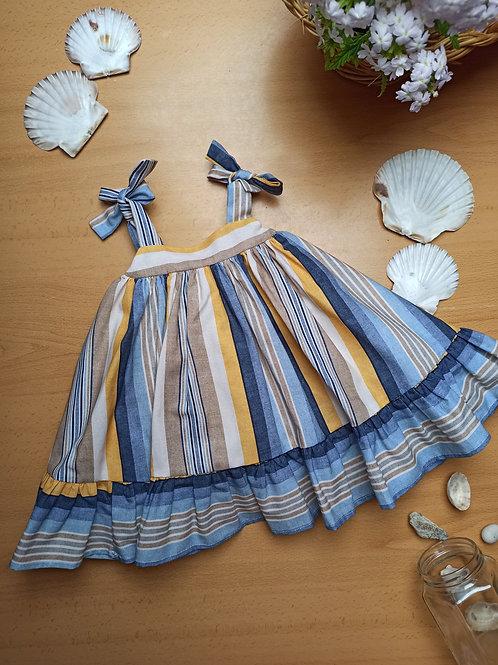 Vestido bebé tirantes Arena TERESA RODRÍGUEZ