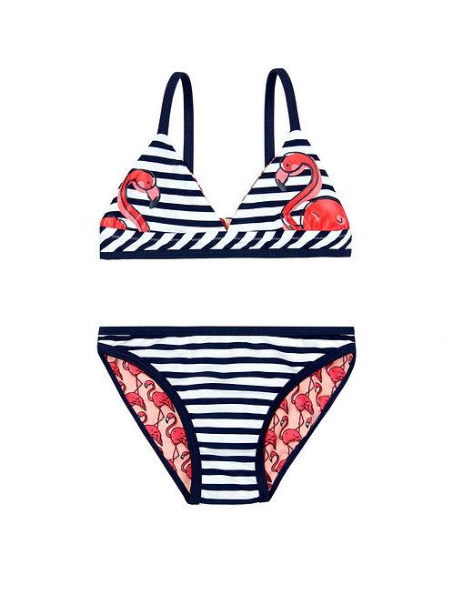 Conjunto bikini reversible Colección Flamencos