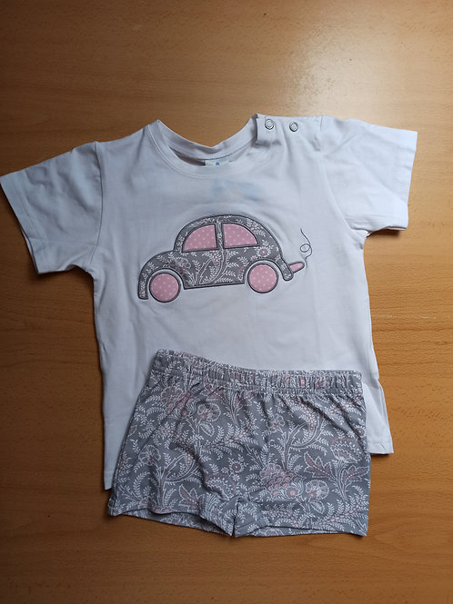 Conjunto camiseta y bañador lycra Colección Cachemir Gris