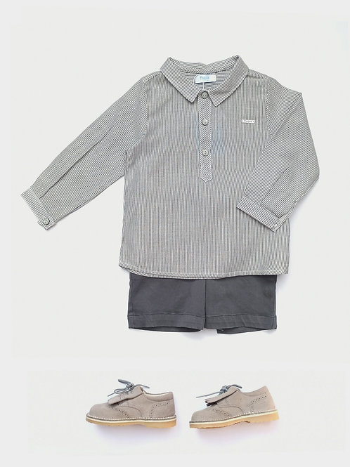 Conjunto Camisa + Bermuda gris familia Conejito FOQUE