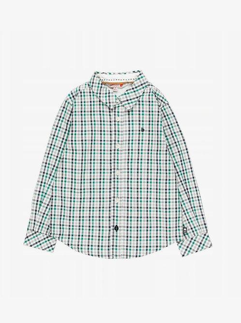 Camisa cuadros verde botella y marino BOBOLI