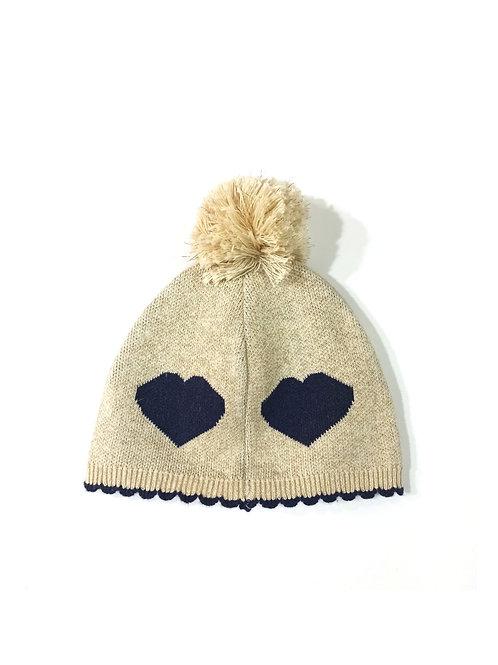 Gorro tricotosa brillante corazón BOBOLI