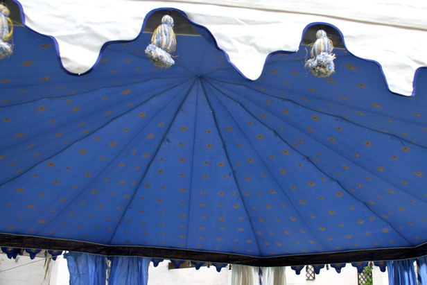 Pavilion with Blue Lining