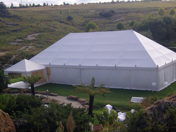 The Cambridge Marquee with sidewalls