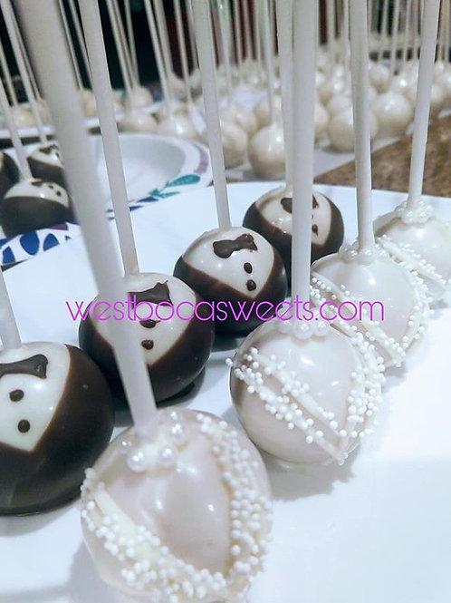 Bride and Groom Cake Pops - 12